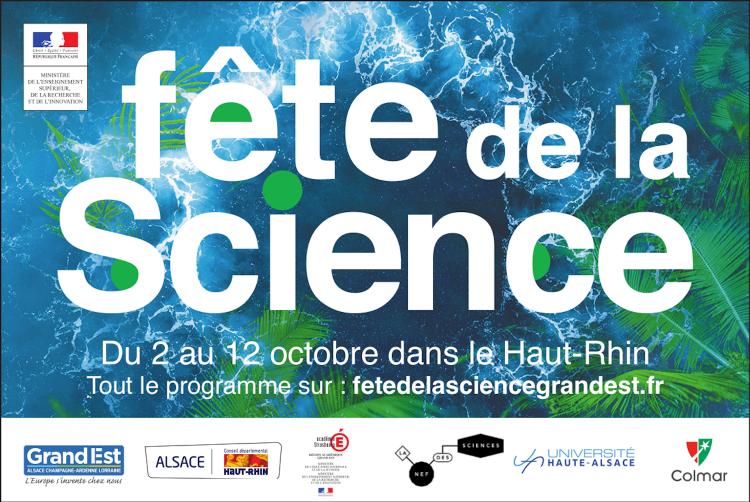 Programme de la Fête de la Science dans tout le Haut-Rhin du 2 au 12 octobre #FDS2020