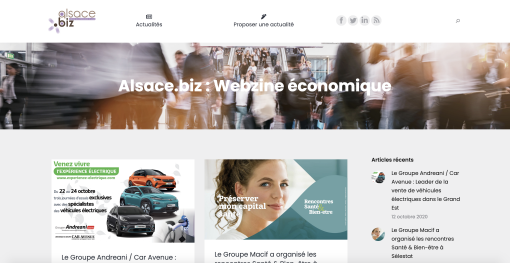 Alsace.biz : un nouveau webzine économique en Alsace