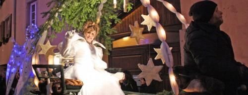 Légendes de Noël en Alsace, défilé nocturne à Wissembourg le 22/12/2013